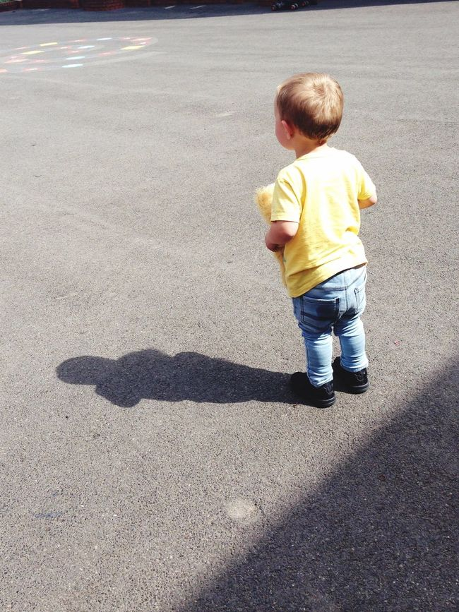 The Moment - 2015 EyeEm Awards Nephew  School Little Big Places Teddy Adventure Waiting Like Family The Street Photographer - 2015 EyeEm Awards love my nephew waiting for his big sister and brother ❤️💙