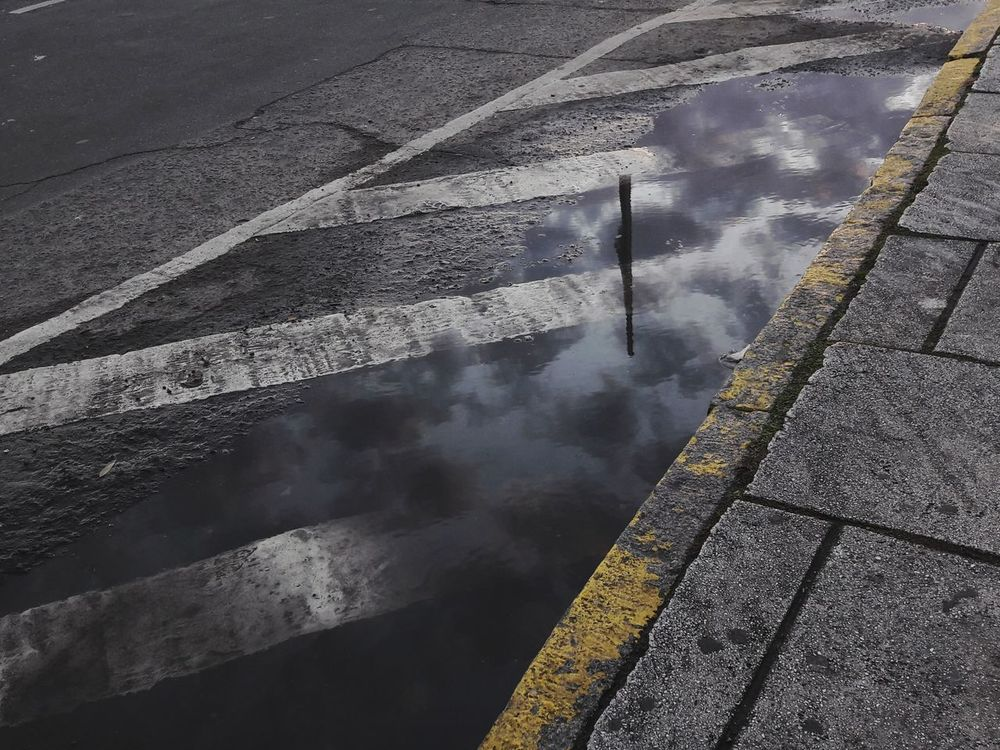 EyeEmNewHere Colors Day Outdoors Close-up Contrast Shadows & Lights Reflection Reflections Reflections In The Water Water Pond Street Photography Street Streetphotography Sky Sky And Clouds Skylovers Sunset Atardecer Nubes Reflejos VSCO Vscocam