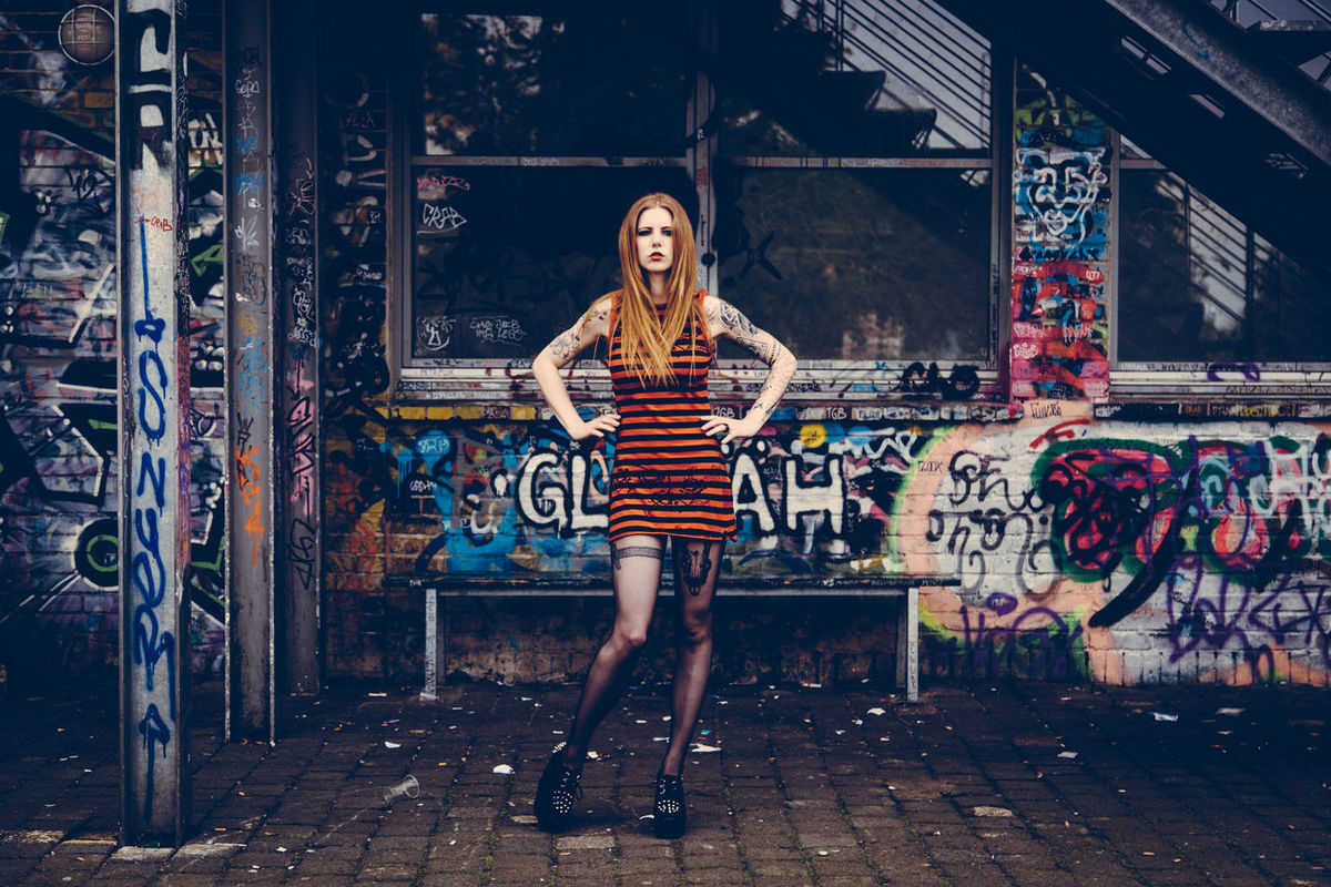 Bumblebees' Home Art Bumblebee Casual Clothing Creativity Fashion Female Girl Graffiti Hair Hairstyle Inked Lifestyles Model Model Pose Portrait Portrait Of A Woman Pose Posing Street Art Style Tattoo Vogue Woman Woman Portrait Woman Who Inspire You