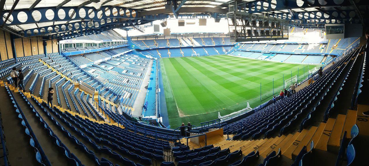 Green Color Sport Stadium No People Indoors  Day Chelsea Chelsea Fc Chelsea London Stamfordbridge  Stamfordbridge