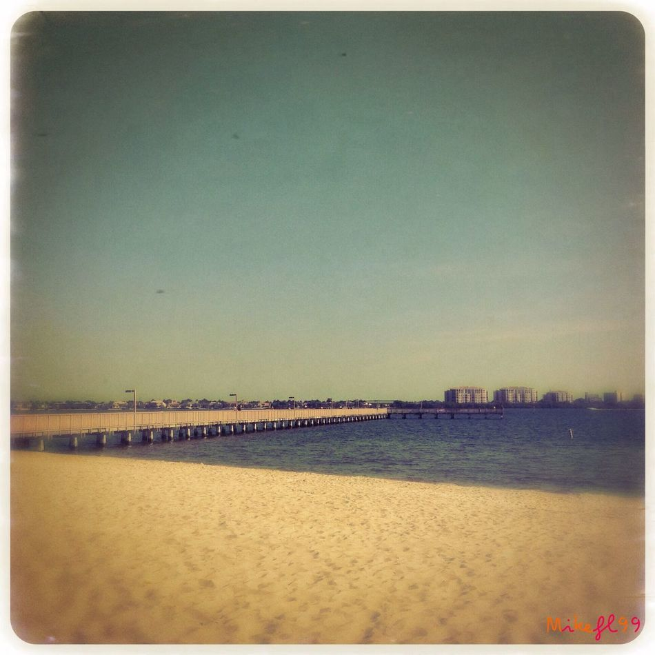 Looking from the beach to the pier. Being A Beach Bum Enjoying The Sun Relaxing Mikefl99