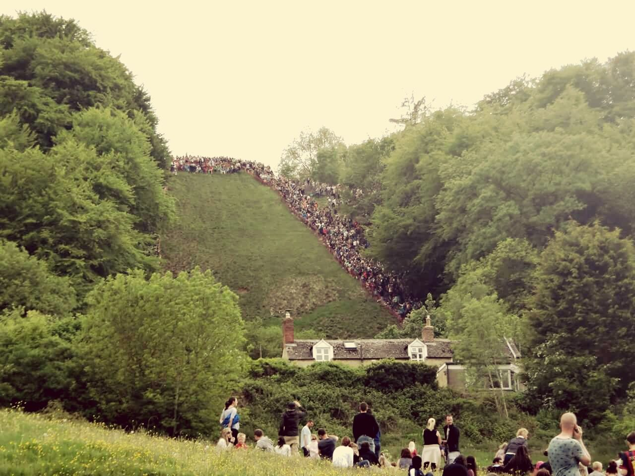 Gloucester Cheese Rolling crazy Crazy Cheese Danger Sport Extreme Weird Wacky Wonderful Gloucestershire England