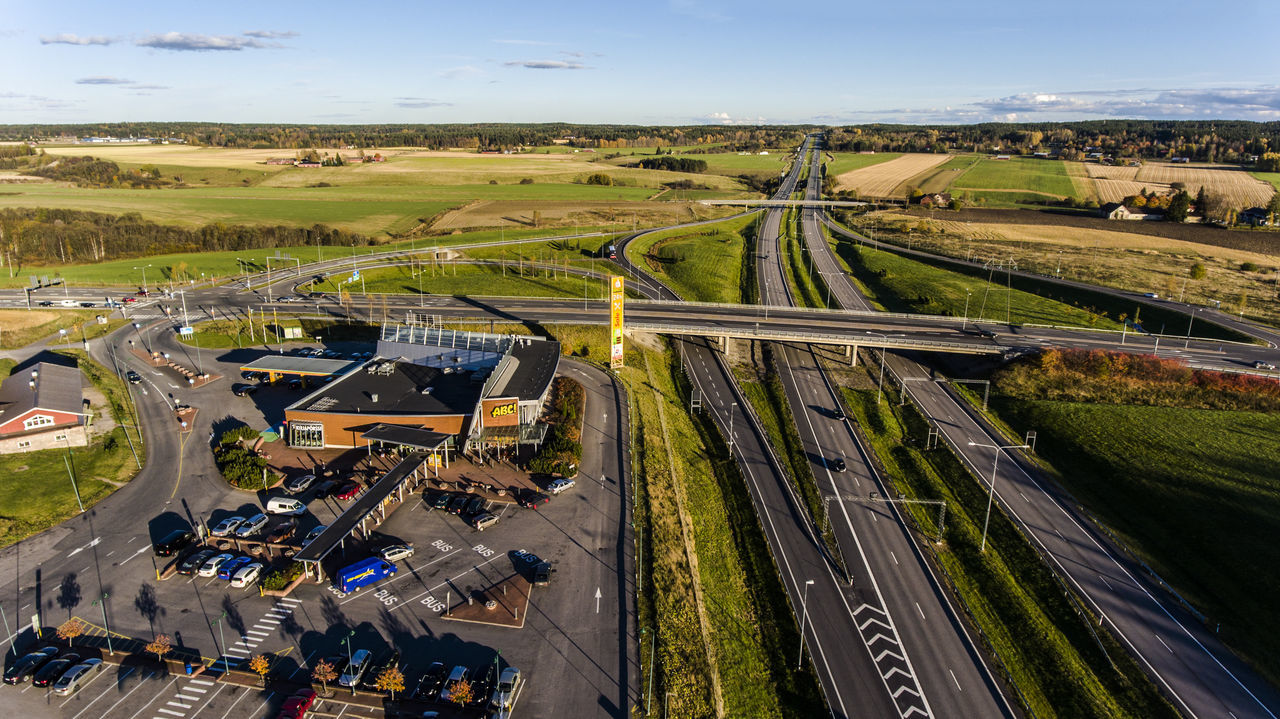 Aerial Photography Aerial View Day Dronephotography Finland High Angle View Highway Industry Landscape Road Salo Summer Suomi Traffic Transportation