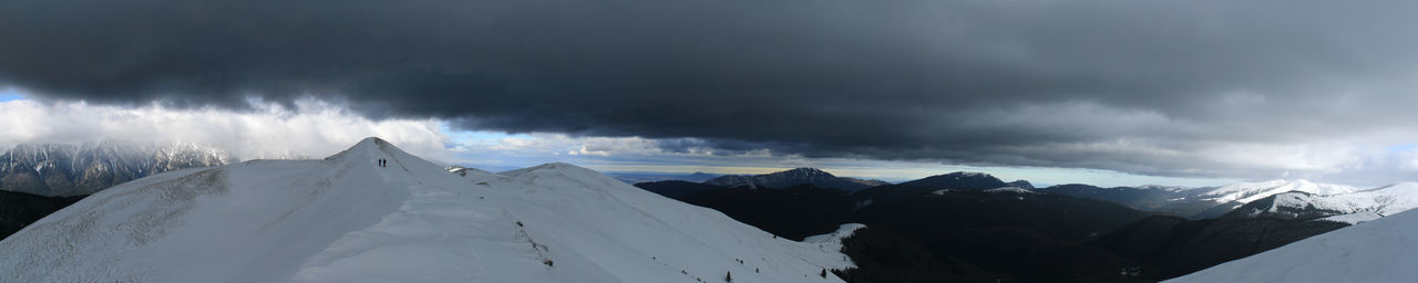 Clouds And Sky Dark Clouds Darkness And Light Mountain Mountain Range Panorama Panoramic Landscape Snow Winter