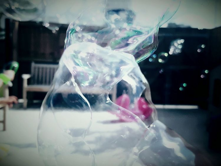 This Is Perspective day 22. Blurred Bubbles Distorted Outside Blowing Bubbles Reflections Light Sunny Day