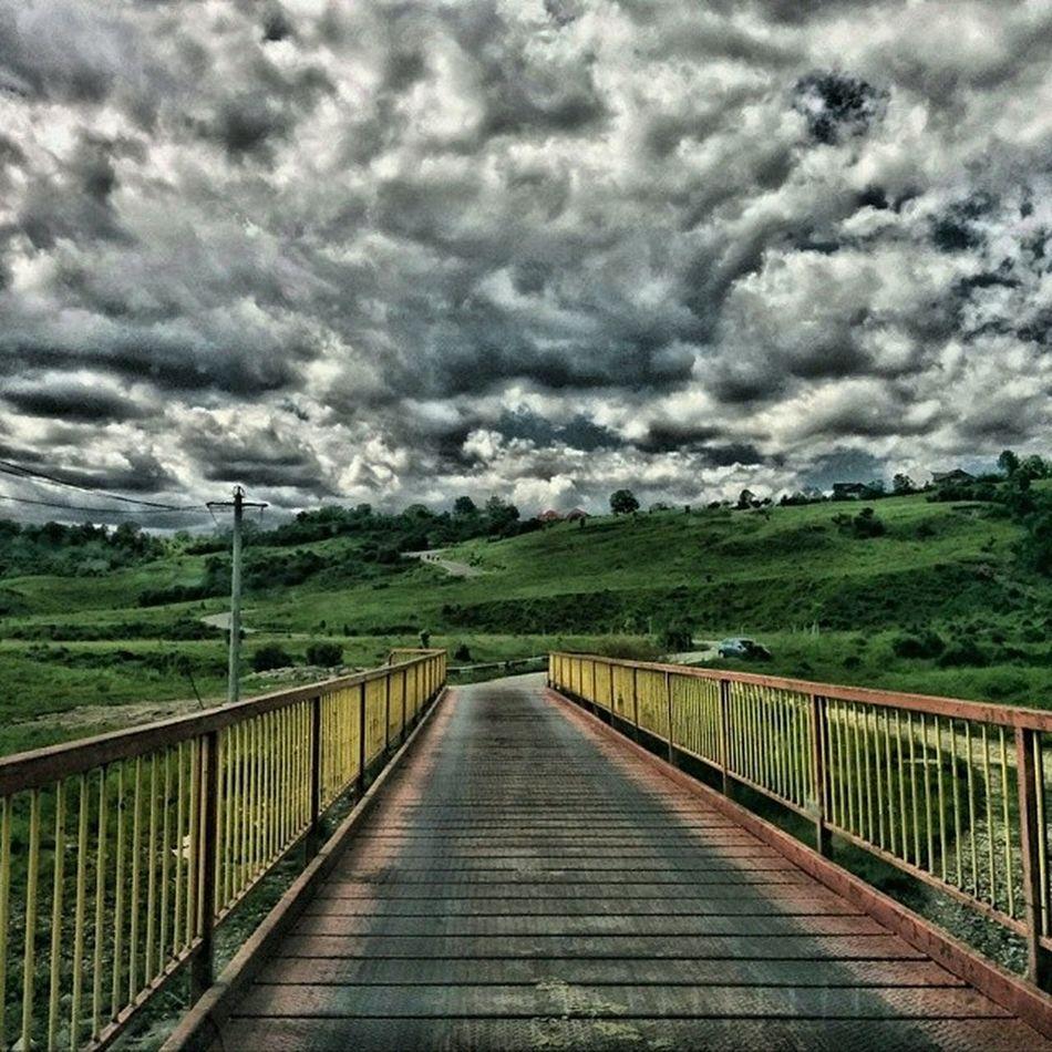 Campina. Heaven. Romania Campina Landscape Sky Clouds Bridge HDR Dramatic Ig_romania