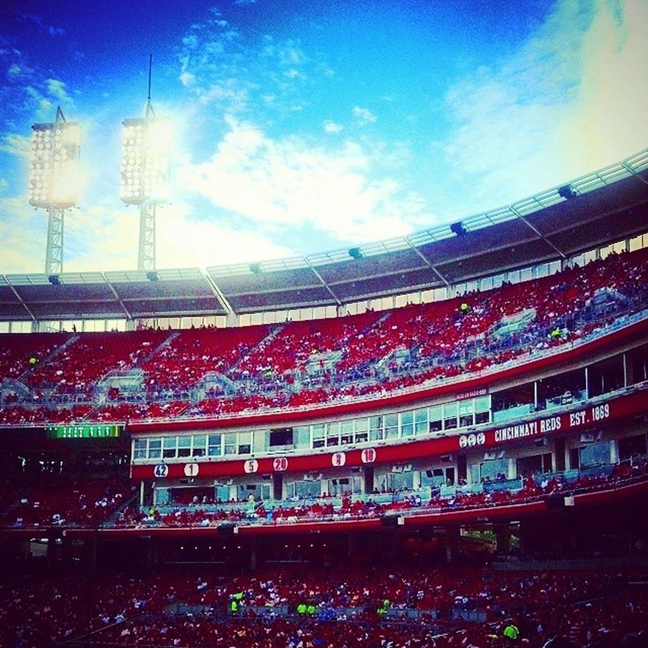Cincinnati tonight. Reds Indians  7of30