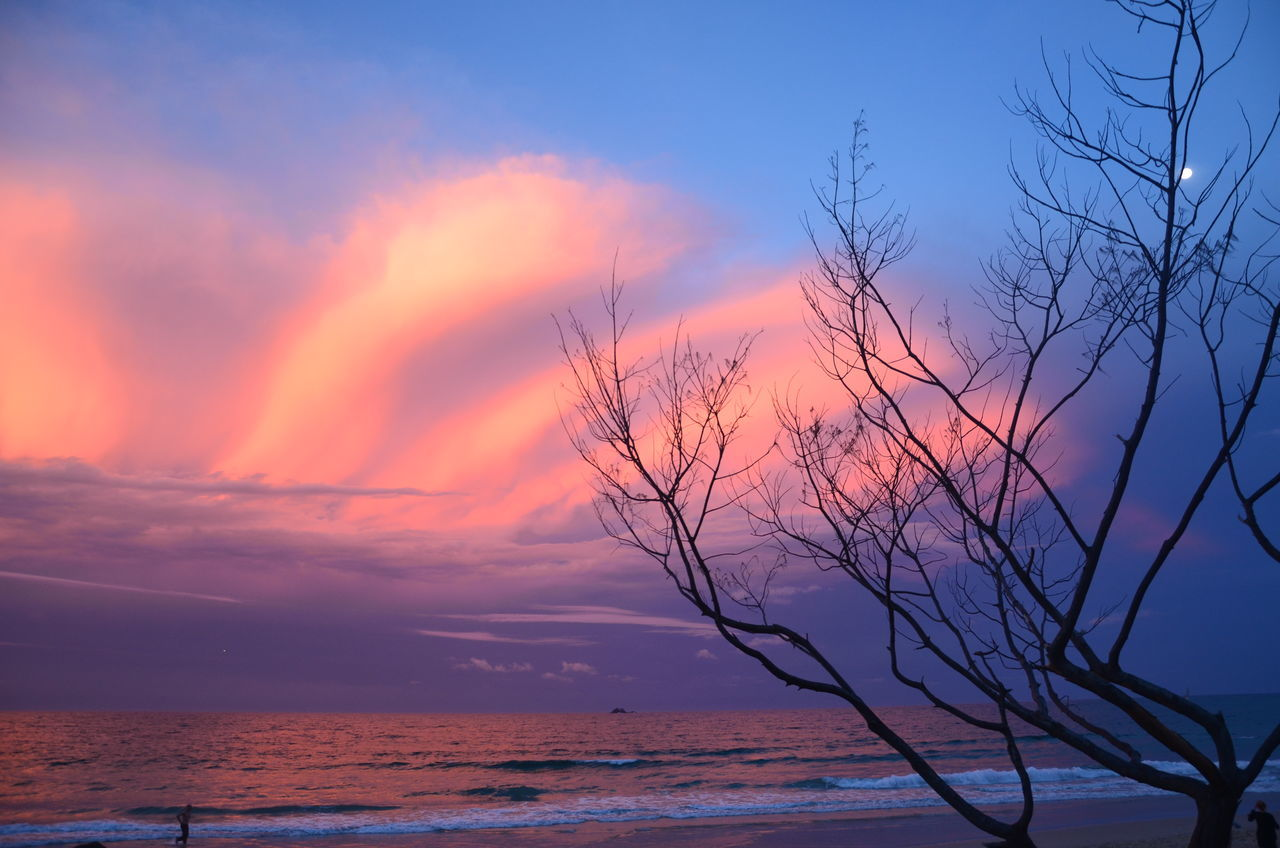 Beach Beach Sunset Beautiful Beauty In Nature Beauty In Nature Cloud - Sky Clouds By Jj Horizon Over Water Landscape Nature No People Outdoors Scenics Sea Sky Sunset Sunset_collection Tranquil Scene Tranquility Tree Water