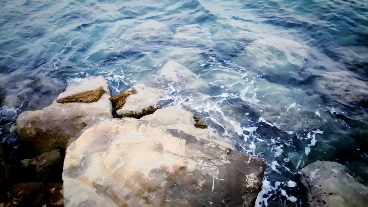 Colour Of Life Sea View Rocks And Water Rocks In Water Rocks Cyprus Limassol Marina