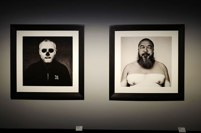 Damien Hirst vs Aiweiwei by Anton Corbijn at C/O Berlin