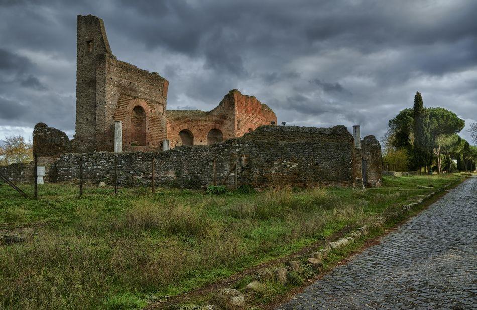 Ancient Appia Antica Architecture Cloud - Sky Grass History Italy Lazio Old Ruin Roma Rome The Past Villa Dei Quintili