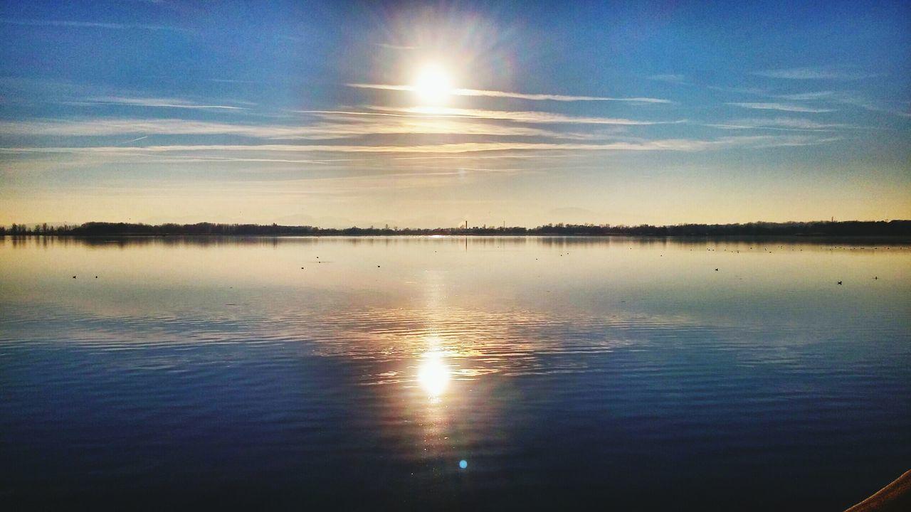 Double sun Sunshine ☀ sunset sunlight Enjoying Life Lake View Eyeemphoto Two Is Better Than One