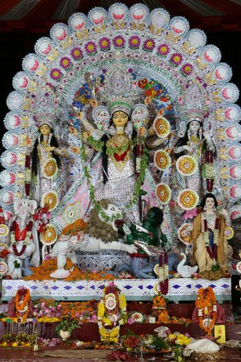Durga puja 2016 Art And Craft Creativity Religion Spirituality Religious Offering Hindu God Vibrant Color Festival Decoration Incredibleindia Check This Out Durga Puja 2016 Pujapandal Pandalhopping Hinduism Hindu Goddess Earthfriendly Ecofriendly