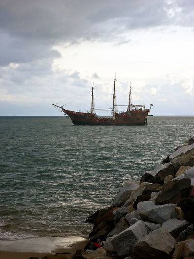 Walking Around Sea View Pirate Ship Puerto Vallarta Landscape Landscape_Collection Landscape_photography Colors Ship Sunset