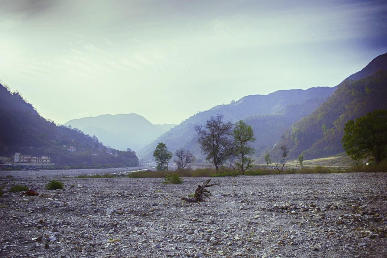 Mountain Landscape Silence Outdoors No People Social Issues Lonely Quite Barren Rishikesh Ganges Riverbed