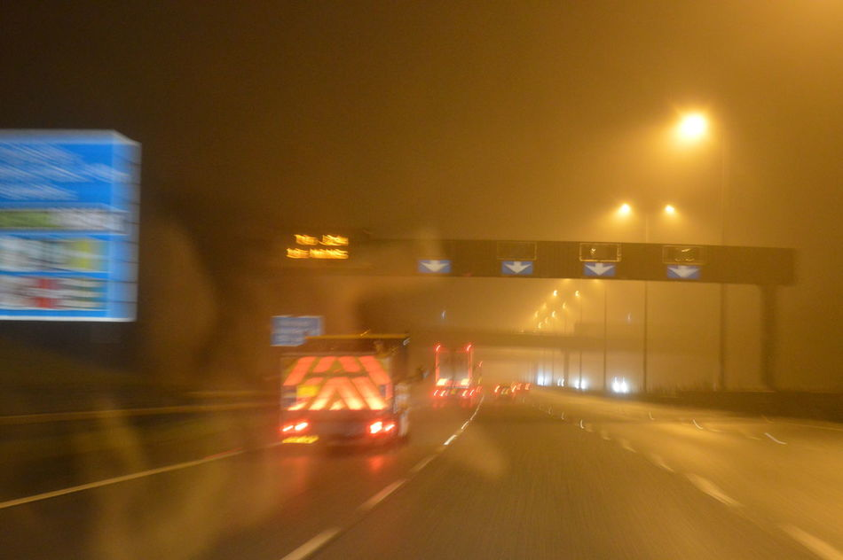 Fog on M6 Bad Condition Bad Driving Bad Weather Can't See Foggy Morning Foggy Weather Not Slowing In Fog Road At Night