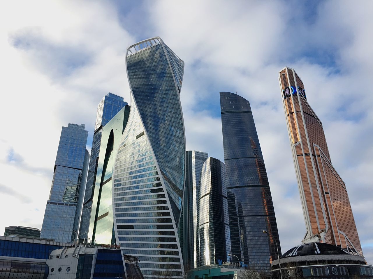 Moscow Moscow City Tower Business Building Business Center Curve Tower Glass Sky Outdoors Day Winter