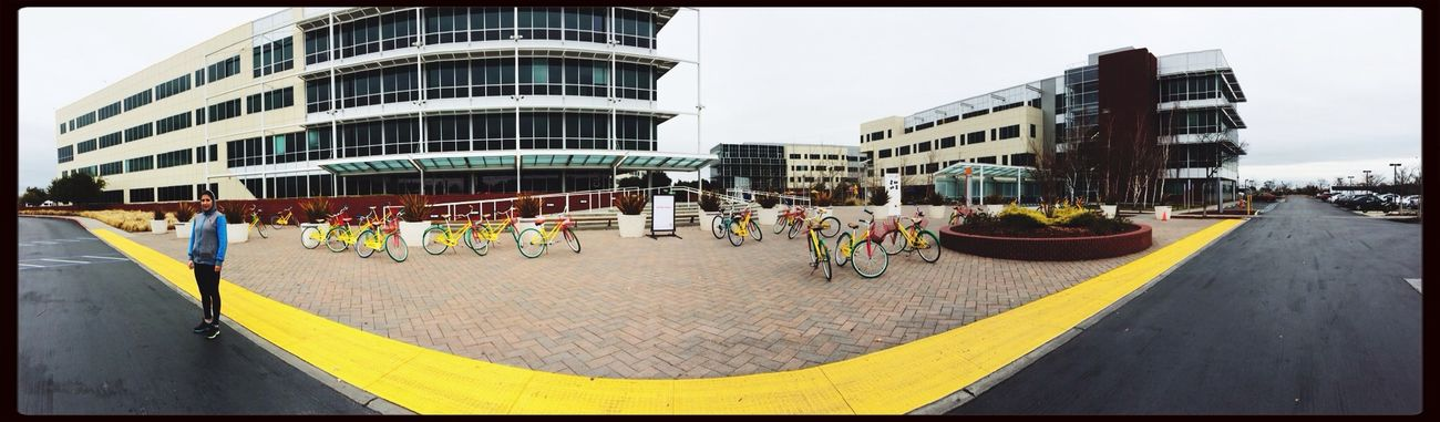 Google yellow California Siliconvalley Bikes Panorama