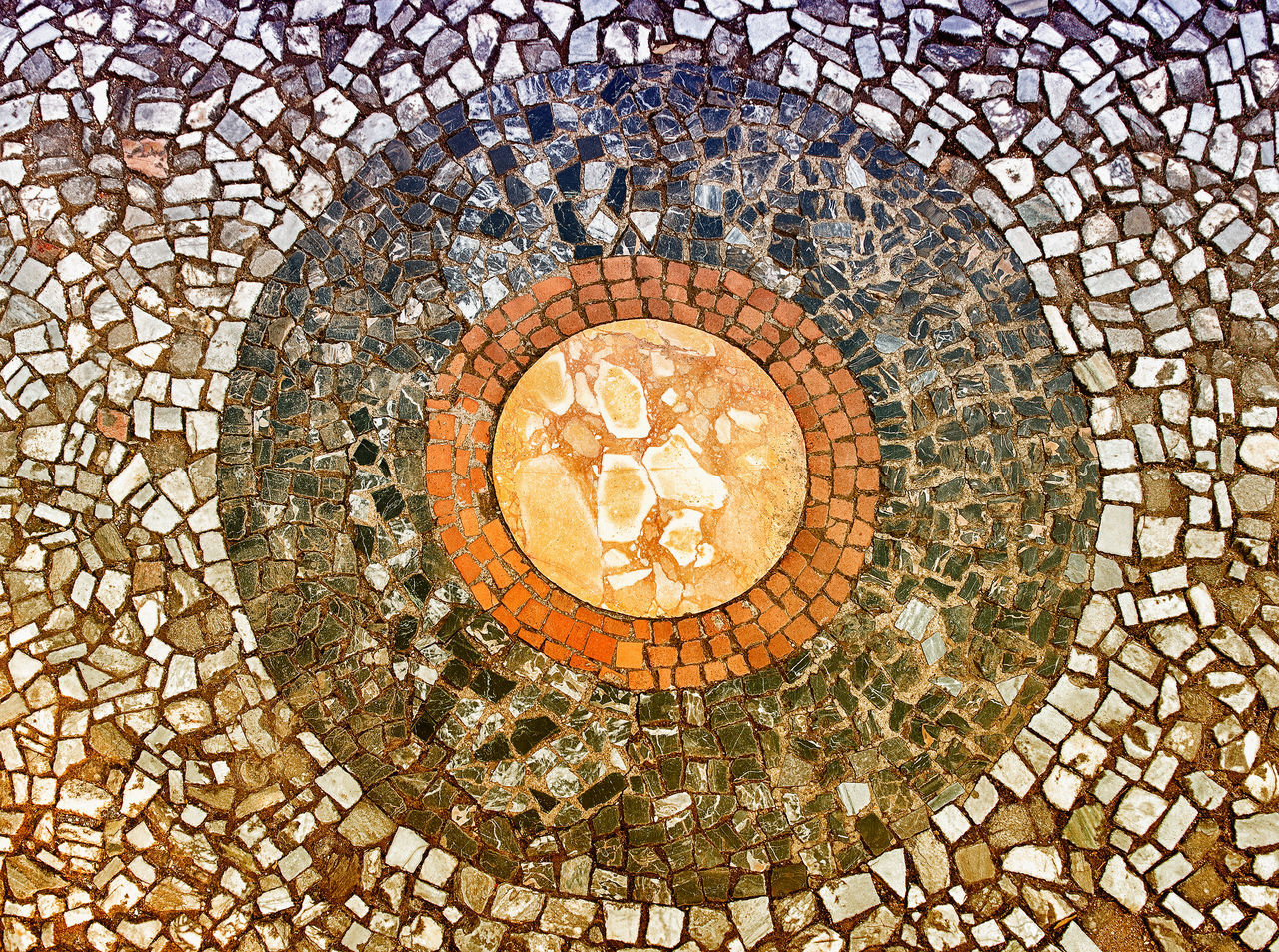Architecture Backgrounds Circle Close-up Concentric Day Geometric Shape No People Outdoors Pattern Sky Textured