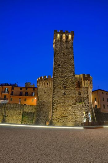 La Rocca (The Rock). Umbertide, Italy. Tower Rock Umbertide Italy Italia Bluehour Nightphotography Malephotographerofthemonth Old Buildings Traveling