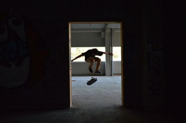 Skate & Chill ft. Mateo Olivera Abandoned Alone Fabric Graffiti Indoors  Mystery Room Skate Skateboard Skateboarding