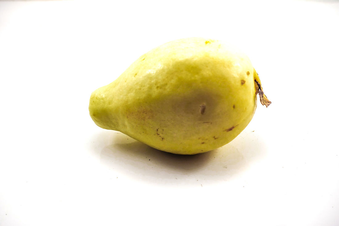 Paint The Town Yellow Close-up Day Eaten Food Food And Drink Freshness Fruit Guava  Guava Fruit Guavas Healthy Eating No People Studio Photography Studio Shot White Background