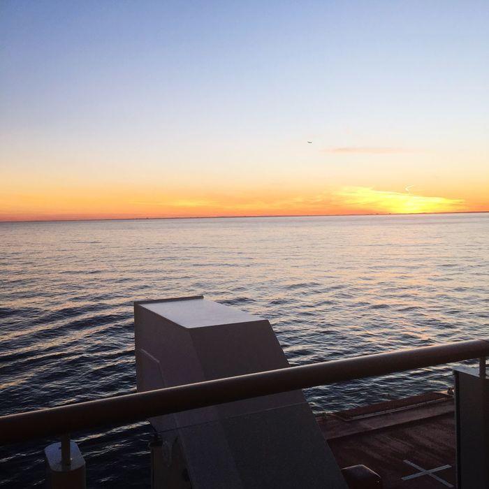 Cruise sunsets Cruise Sunset Sunset On The Sea Ocean Views Cruise Deck Orange Sky