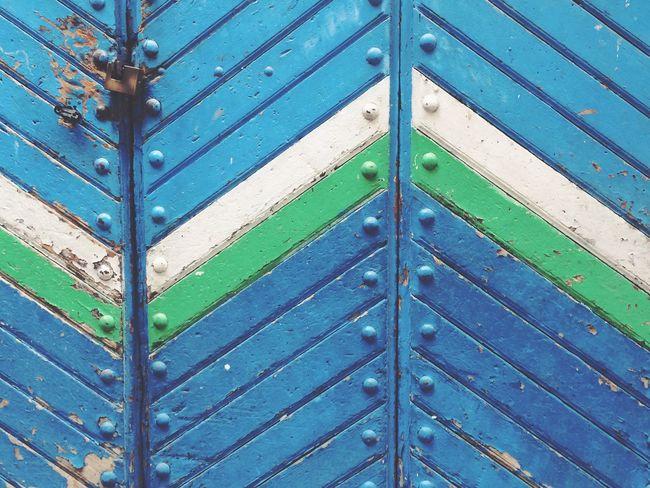 Granada Door Puerta Azul Blue And Green Old