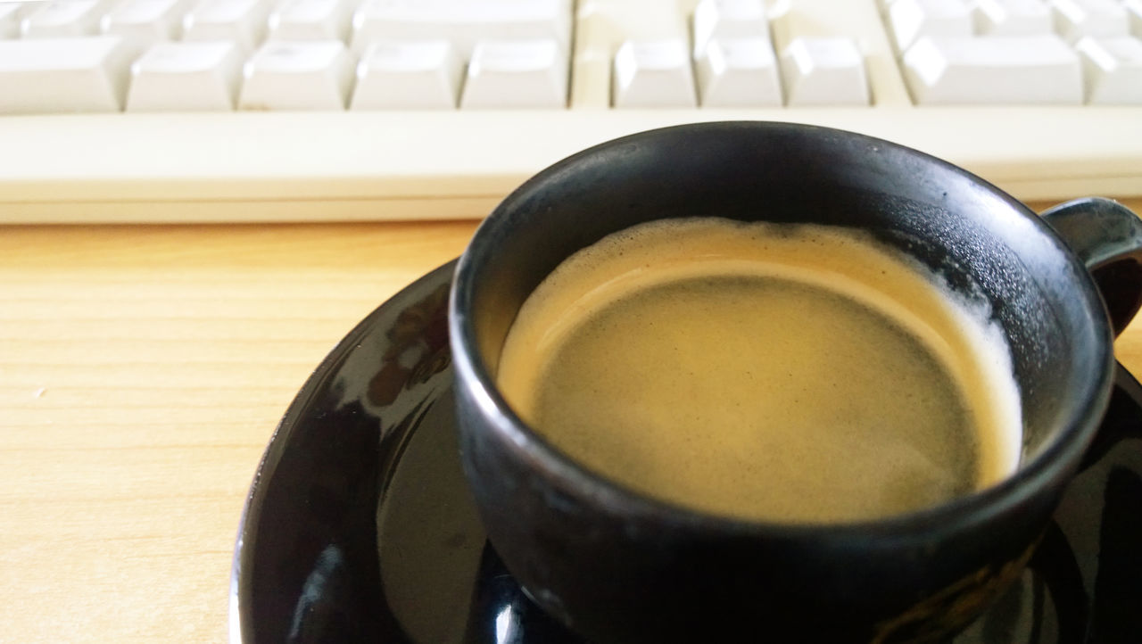 delicious espresso break , relax pause at computer desk Blurred Background Break Caffeine Close-up Coffee - Drink Coffee Cup Communication Computer Desk Computer Keyboard Cup Drink Espresso Food And Drink Freshness Frothy Drink High Angle View Indoors  Lifestyle No People Pause Refreshment Relax Relaxing Moments Technology Working