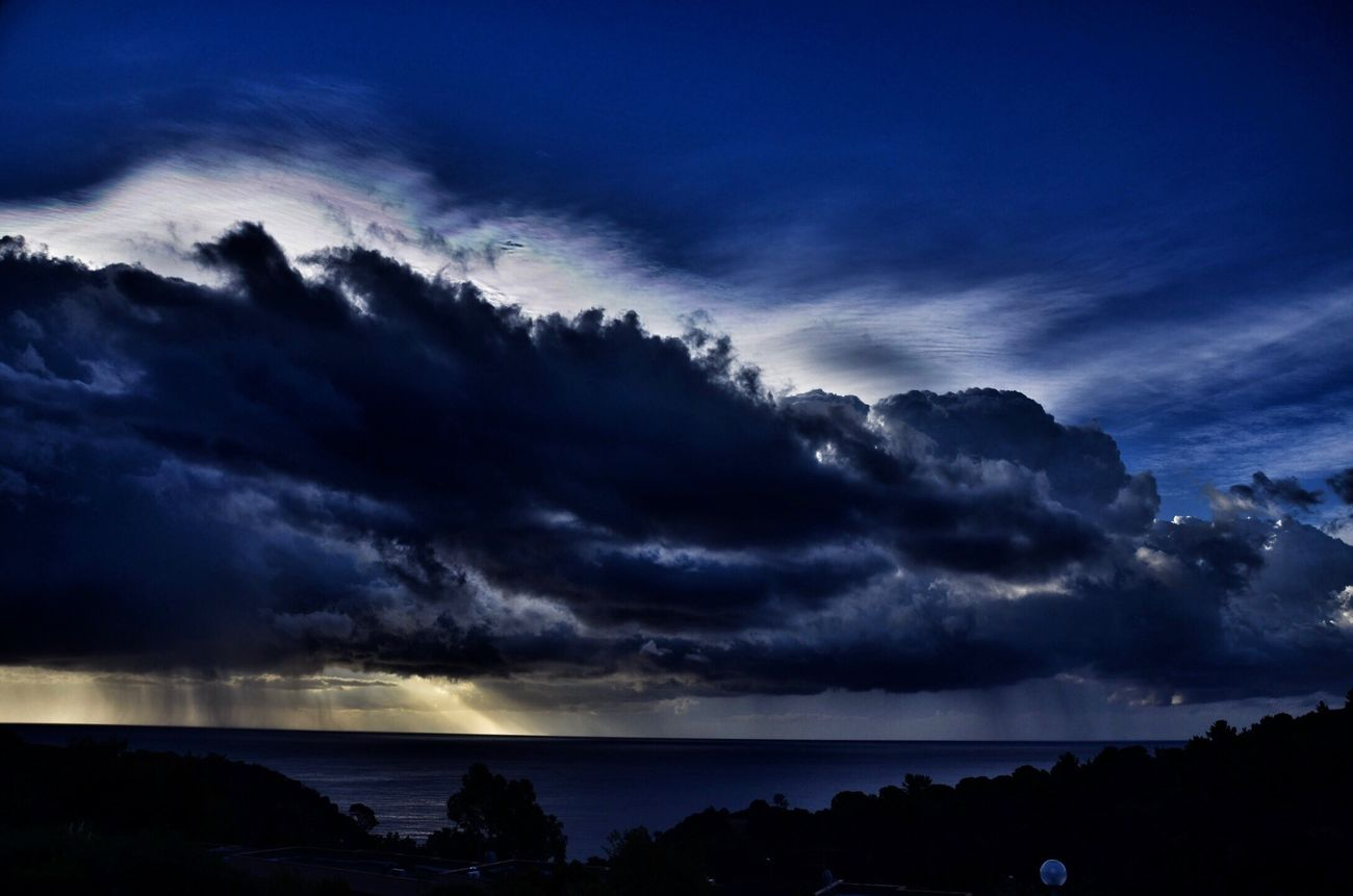 Sky Nature Cloud - Sky Beauty In Nature Scenics Sea Silhouette Sunset Tranquility No People Outdoors Storm Cloud Horizon Over Water Water Day