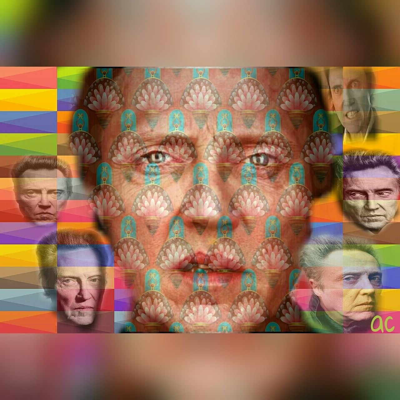 CHRISTOPHER WALKEN Collageartwork American Actor Color Explosion Collageoftheday Collageart