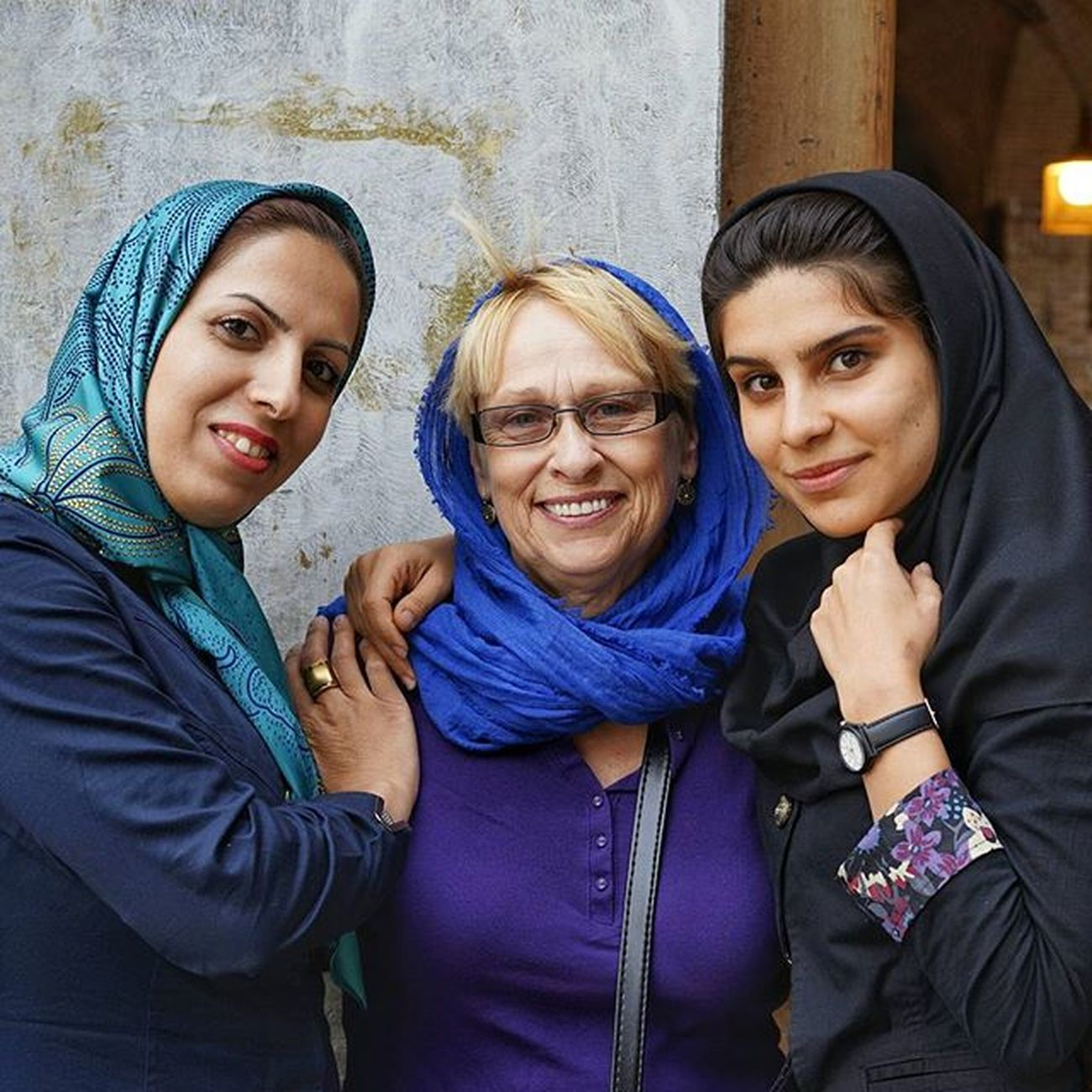 Leave my Mom alone for a few minutes to go to photograph a mosque, and when I come back she always has a few new friends. In Kashan she was teaching English to a man, and here in Isfahan she was chatting up two translator students named Somaye and Zahra while sharing some tea Iran probably isn't what you think it is... Everydayisfahan Everydayiran Iran4real