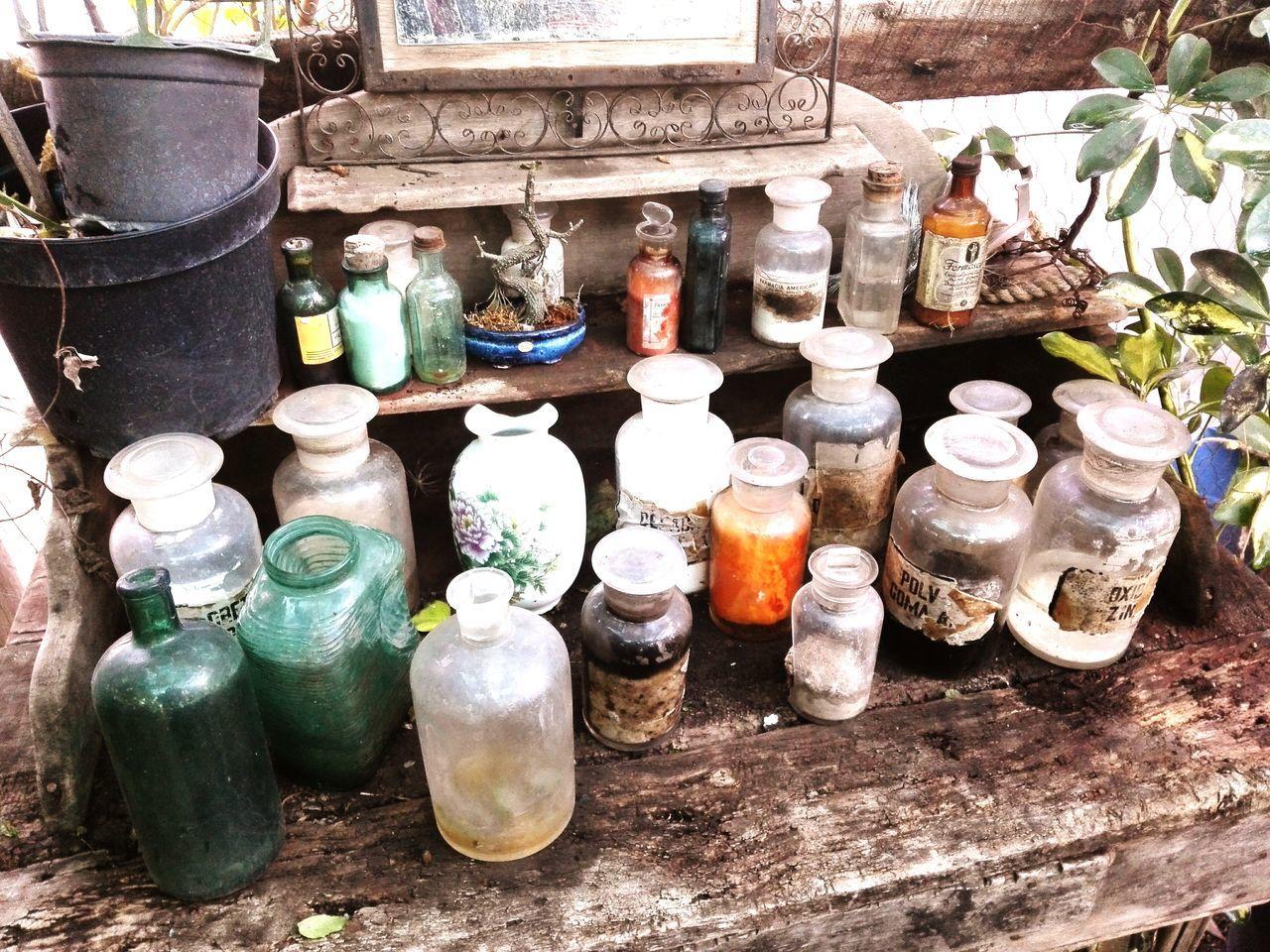 bottle, variation, jar, no people, day, large group of objects, indoors, shelf
