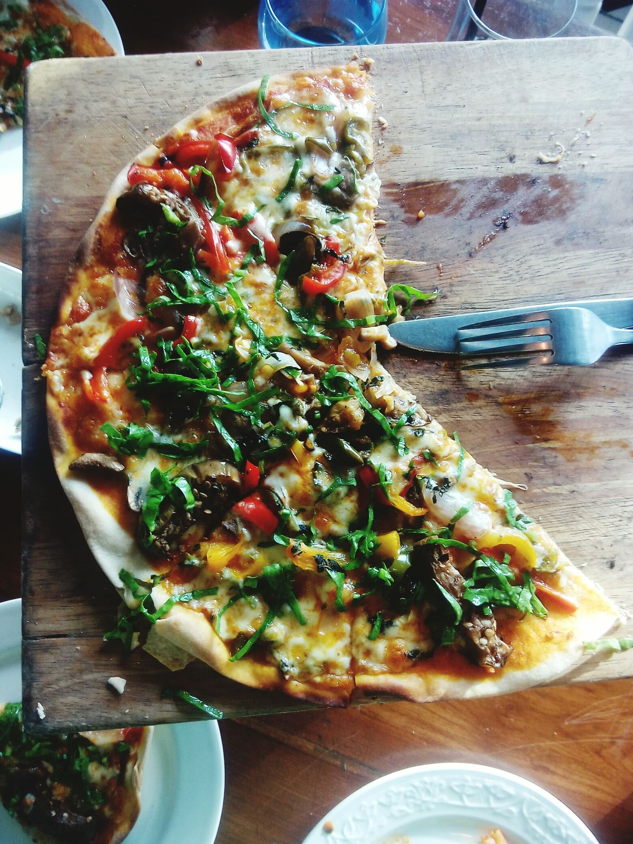 Lovely pizza in olive bristro at in gurgoan