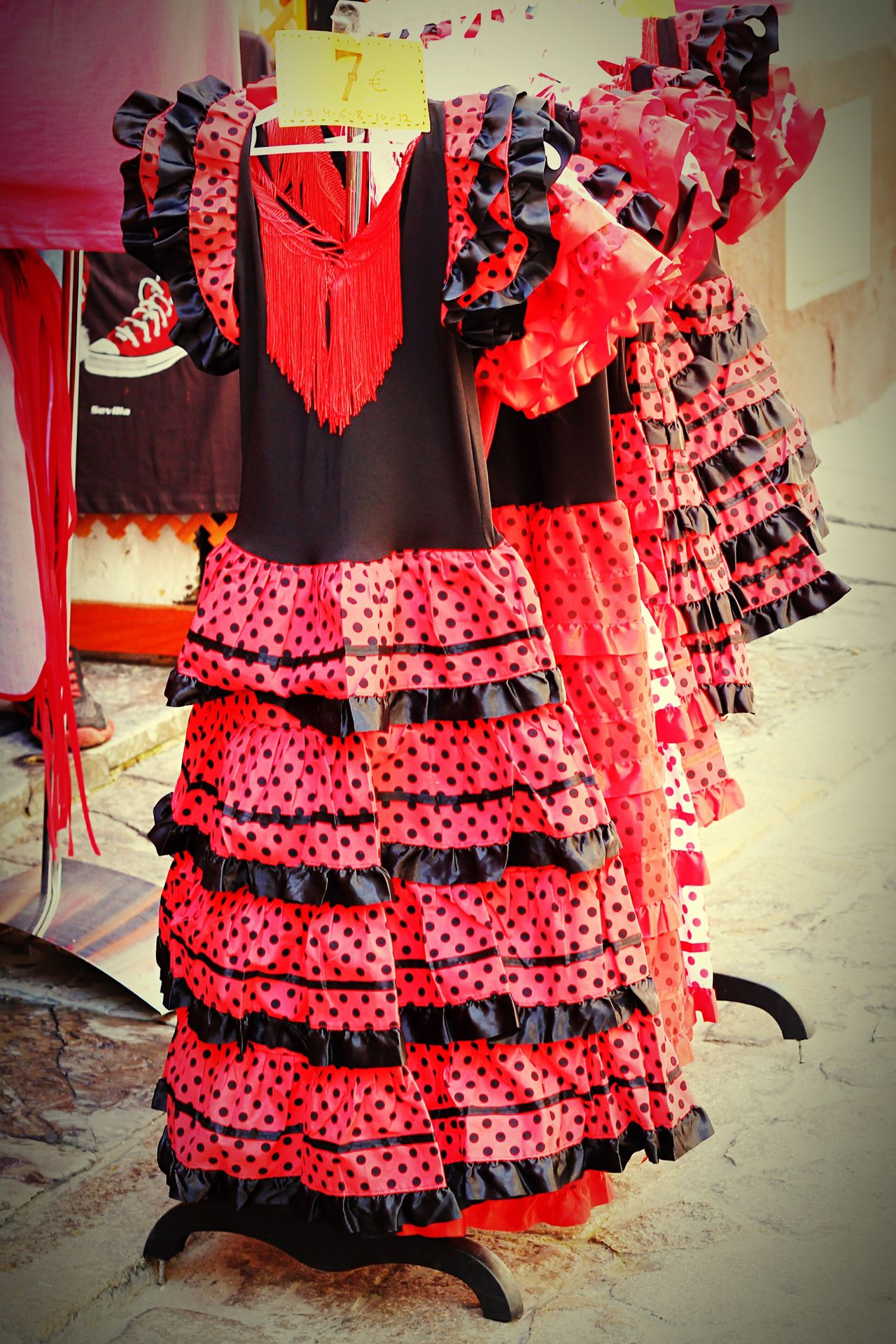 Shopping in Sevilla SPAIN Spain♥ Spain ✈️🇪🇸 Sevilla Travel Traveling Travel Photography Travel Destinations Travelling Folk Folklore Clothes Shop Andalucía Andalusia Dress Typical Dresses