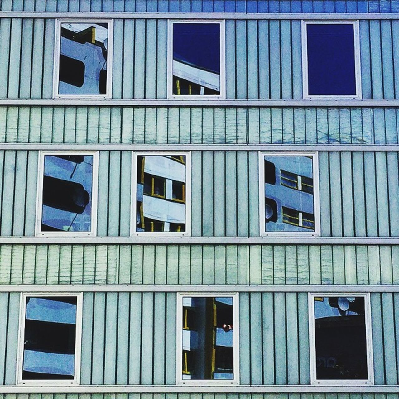 architecture, built structure, window, building exterior, day, outdoors, no people, blue, close-up