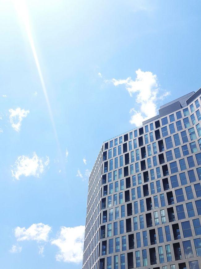 Building Architecture Windows Bright Modern Sky Clouds Virginia