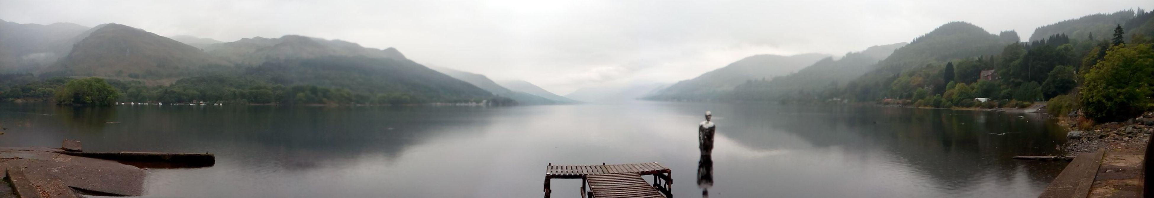 The Calmness Within Loch Earn on a misty day...