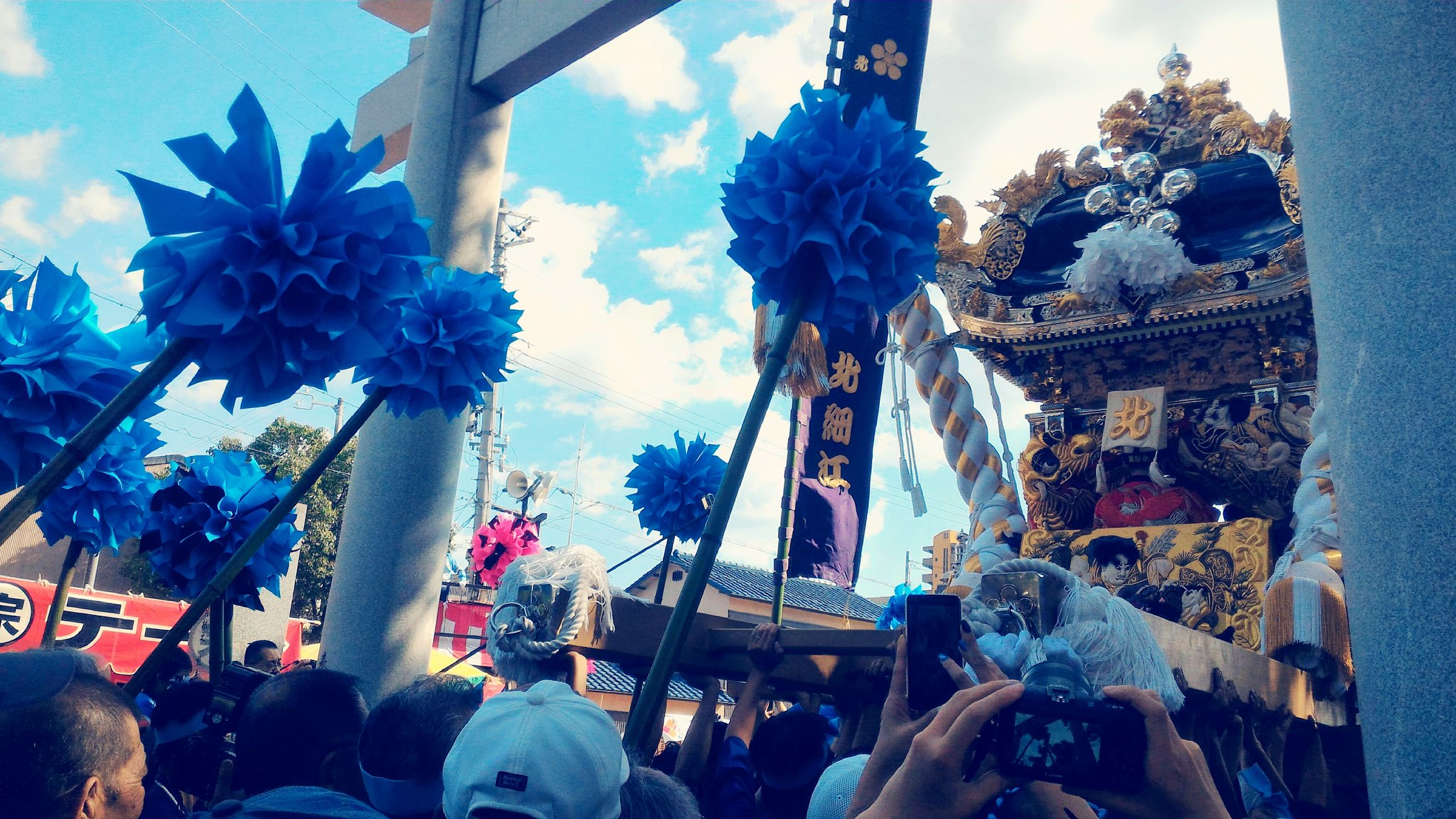 I love the festival of my town.Japan Culture Festival Matsuri Mikoshi Autumn Enjoying Life Since 18th Century People Photography