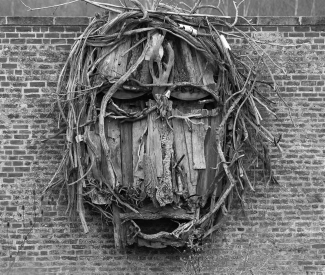 Wood Wooden Wood - Material Face Wooden Face Scary Face Scary Wall Dumfries House Taking Photos Check This Out Ayrshire, Scotland Close Up Wooden Sculpure Black And White Black & White Black And White Photography