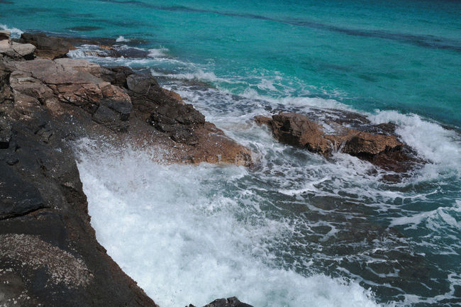 Nature Blue Rocks Rocks And Water Sea Shades Of Blue Tunsia Water Waves Wildeness