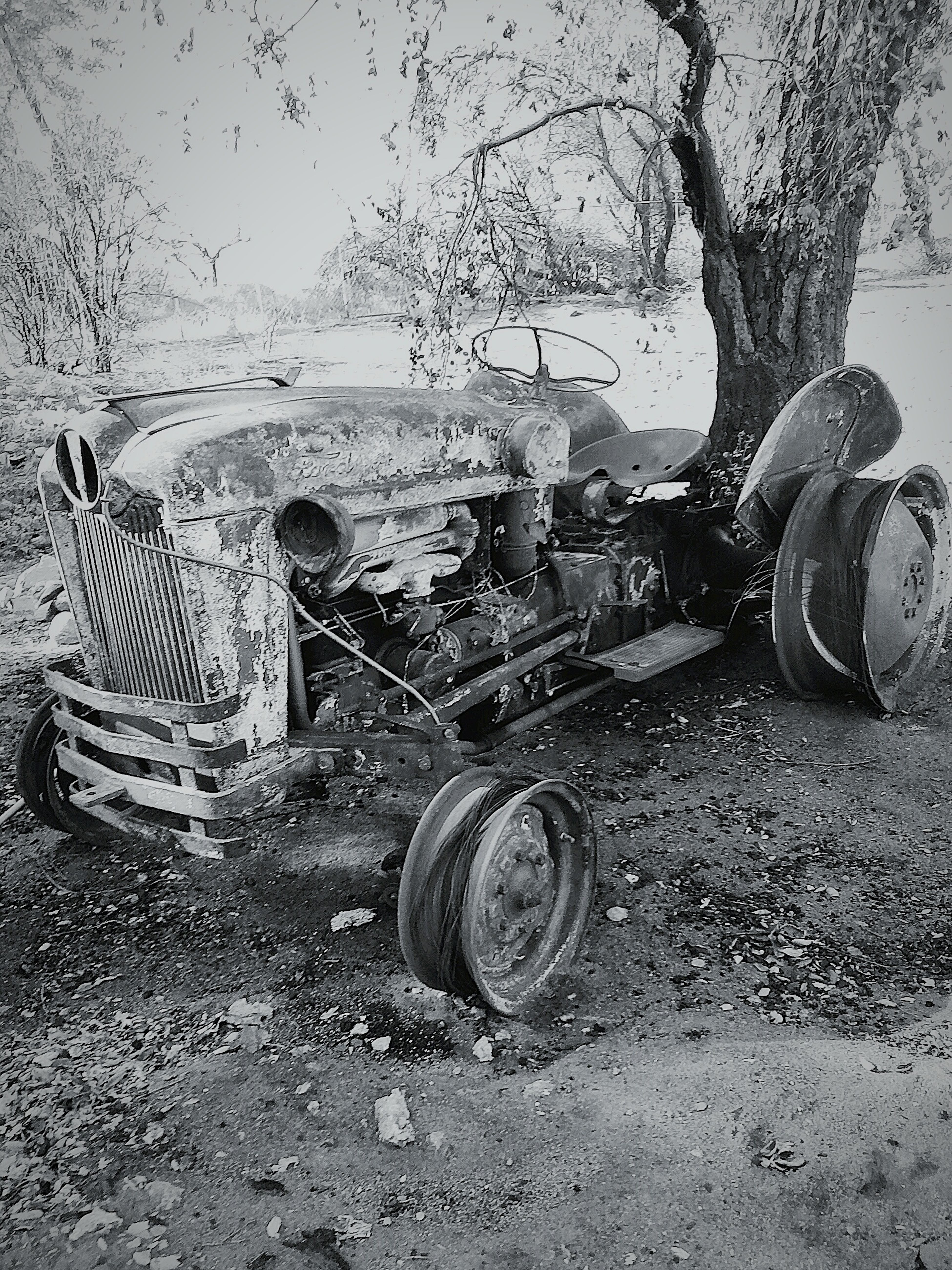 "39 Ford Farming Tractor, burned in The ""Sivler Fire"" Summer of 2013"