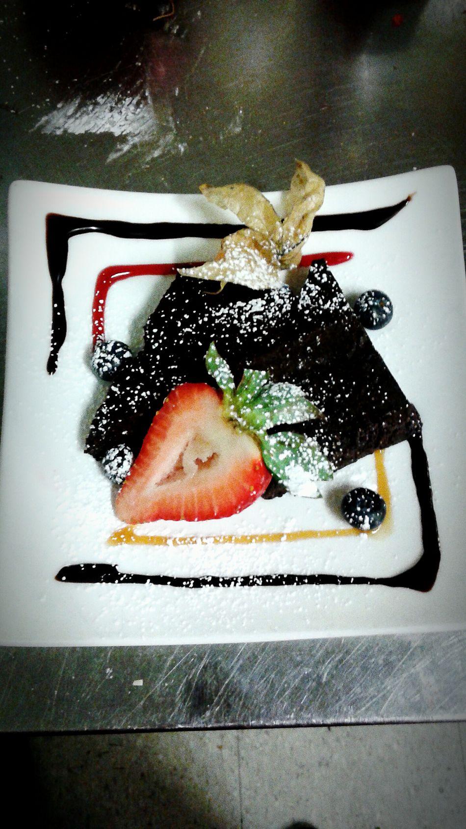 Chocolate♡ Chocolate Torte Dessert Chef Design Strawberry Gooseberry Dessert Plating Yum Sweet Tooth Art