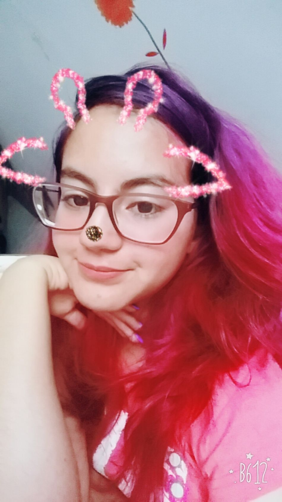Pink Color Portrait Looking At Camera Eyeglasses  One Person Check This Out Photo Taking Photos Fucsiahair Purplehair Hairdye Hair Color Haircolor Hair Hi!
