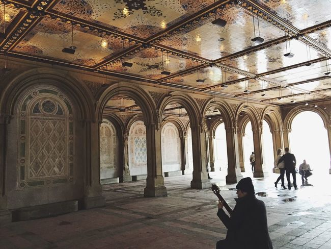 Bethesda Terrace in NYC Real People Indoors  Built Structure Men Arch Women Lifestyles Architecture Architectural Column One Person History Travel Destinations Day People Adult New York City First Eyeem Photo NYC Nycphotography Newyorkcity Bethesda Terrace Bethesda Fountain Bethesda Central Park CentralPark EyeEmNewHere