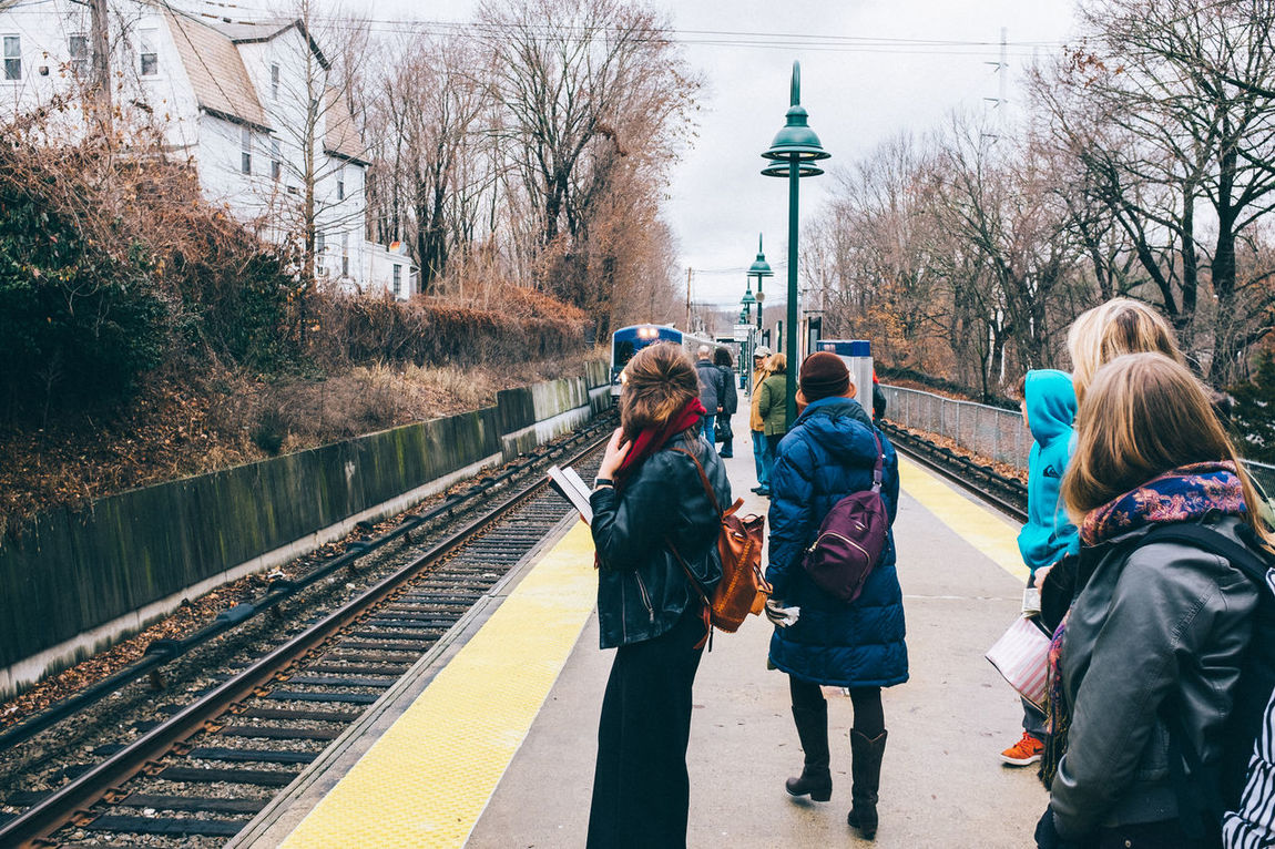 It's Cold Outside Candid Perspective VSCO Fujifilm Commuting Transportation On The Move New York Beautiful Nature Public Transportation Daily Commute