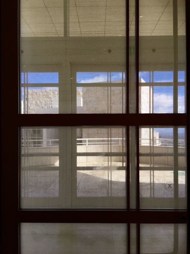 Window Indoors  Geometric Shape Window Frame Architectural Detail Light And Shadow IPhoneography Los Angeles, California The Getty Center Behind The Shades Rectangular Frame Architecture Pattern, Texture, Shape And Form