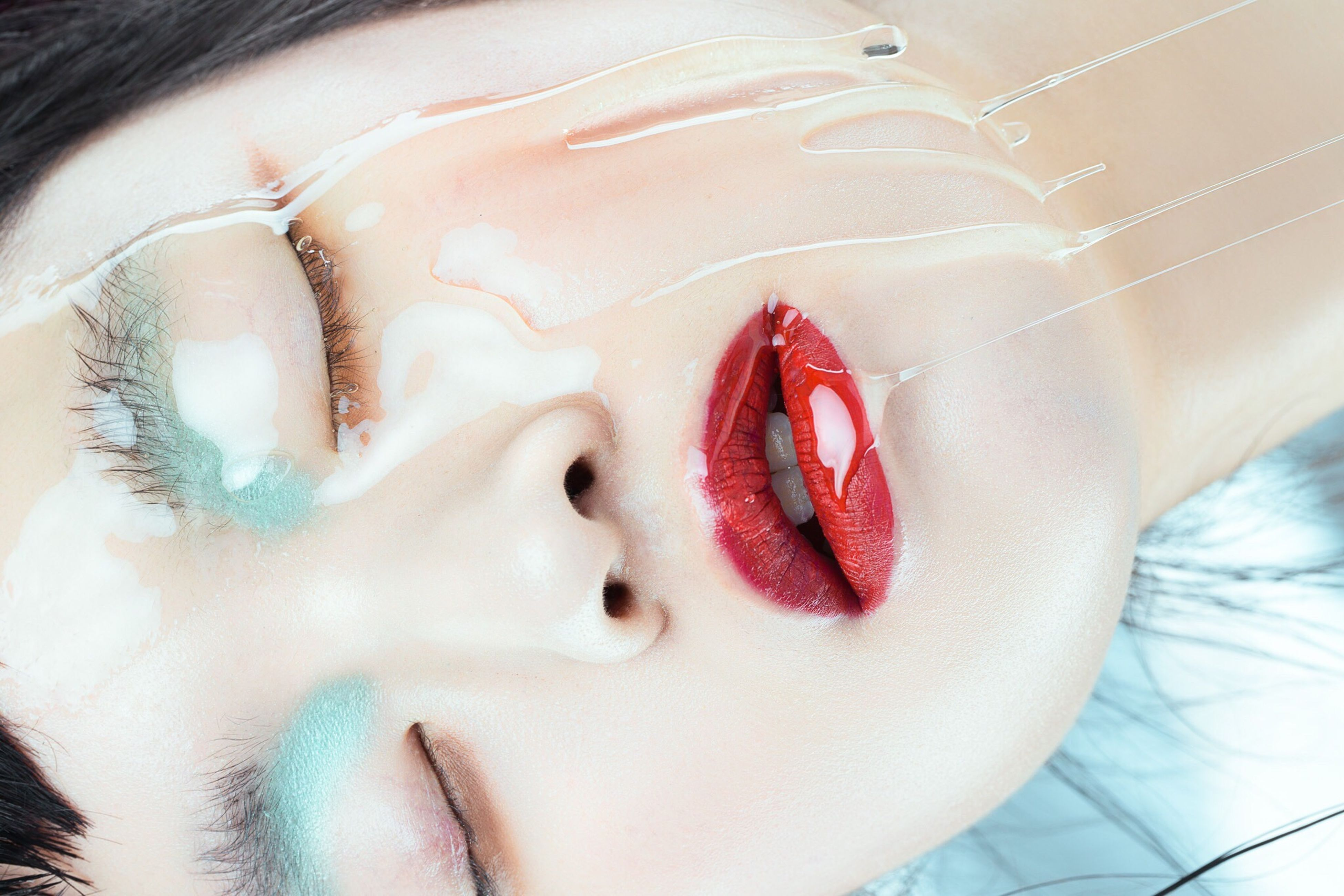 close-up, human body part, red, hygiene, indoors, beauty, young adult, people, freshness, one person, human lips, adult, adults only, day