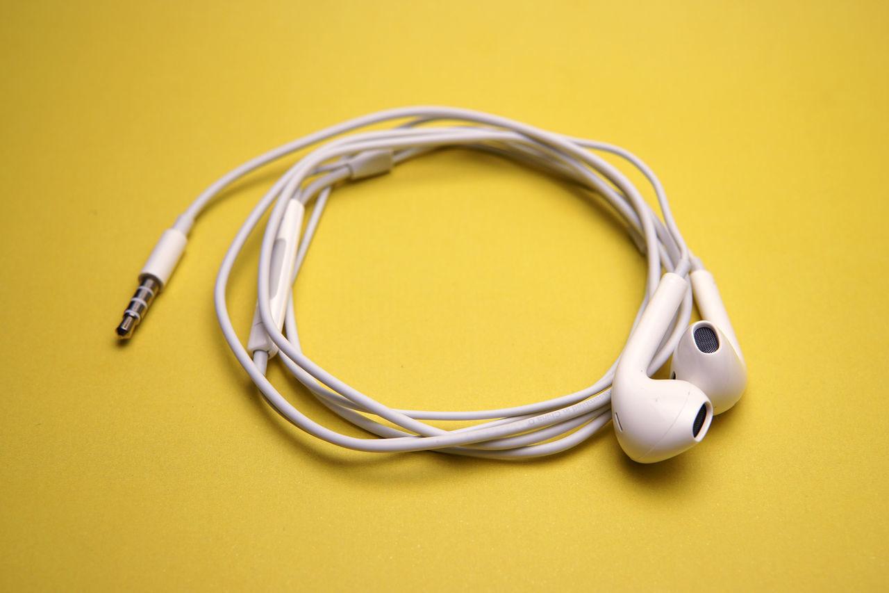 Audio Digital Earphone EarPhonePlug Earphones Equipment Headphones Headset Music No People Phone Portable Sound Stereo Yellow