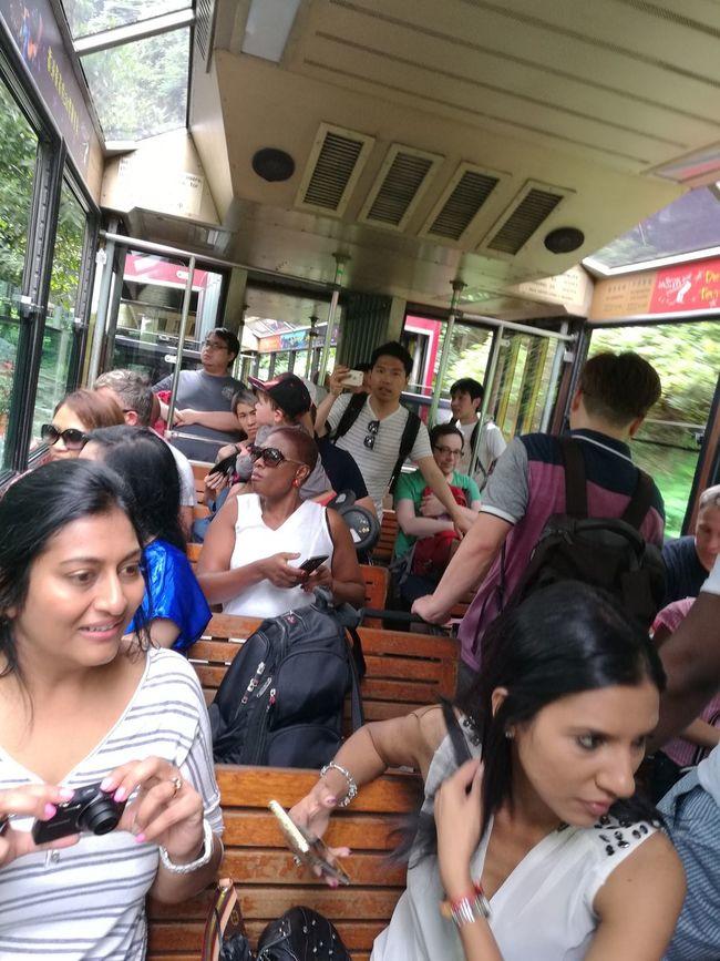 People Together Tourists Victoria Peak, Hongkong HongKong Tram Travel
